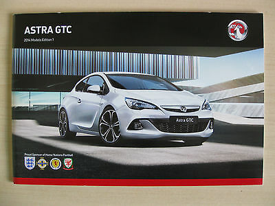 Vauxhall Astra GTC UK Sales Brochure (2014 Edition 1)