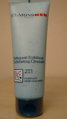 New Sealed Clarins MEN 2 in 1 Exfoliating CLEANSER 125ml RRP £21.50 Unboxed