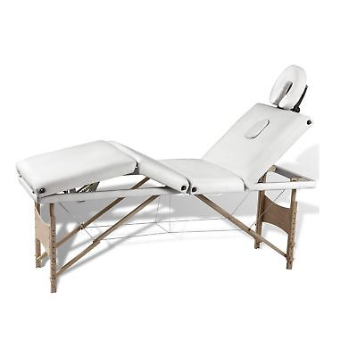 Portable Wooden 4 Fold Massage Table Bed Chair Body Therapy Waxing 62cm