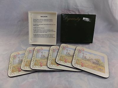 Vintage Pack of 6 x Dynasty Australian Made Drink Coasters