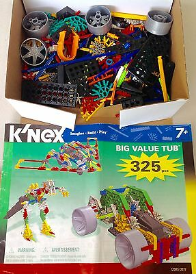 Rare K'NEX KNEX 12065 COMPLETE 325 Piece Deluxe BUILDING SET & MANUAL 20+ Models