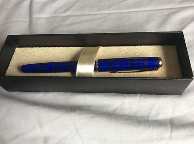 Parker Sonnet Luxury High Quality Marble Blue Fountain Pen with Gold Plated Trim