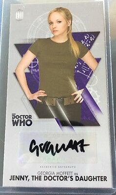"Doctor Who Autograph Card Tenth Doctor Adventures - Georgia Moffett As  ""Jenny"""