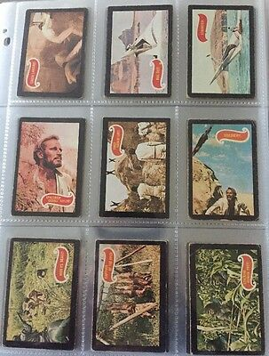 A&bc Gum Planet Of The Apes  Full Card Set Of 44 1968 (Rare Green Back)