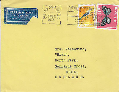 D 462 Suriname 1975 Airmail cover  to UK