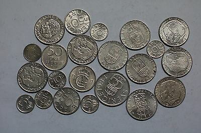 Sweden All Different Coins Collection A56 Zp48