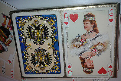 PATIENCE Piatnik IMPERIAL Karten BRIGDE Rummy WHIST Playing cards Romme CANASTA