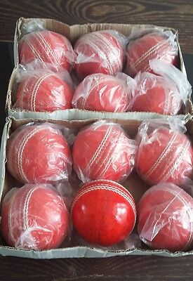 CRICKET 4 PIECE LEATHER BALLS 5.1/2 ×12. (2boxes).