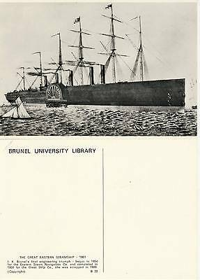 Brunel Great Eastern at sea Starboard Bow 1861 Engineer Victorian
