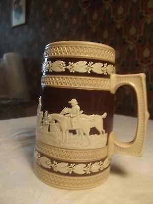 Rare Antique Late 19th/early 20th C Copeland Jasperware Jug with Hunting Scenes