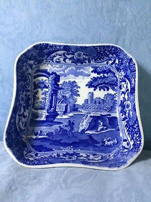 Old Copeland Spode Italian blue and white square dish