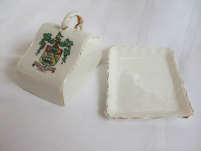 Vintage Gemma Crested Ware 'Cheese Dish and Lid' with Torquay Crest