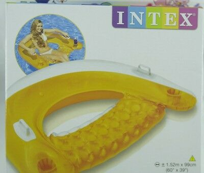 Poltrona gonfiabile galleggiante APERTA SIT e FLOAT piscina mare lago by INTEX