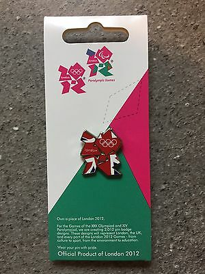 Official London 2012 Union Jack Logo Olympic Games Enamel Trading Pin Badge