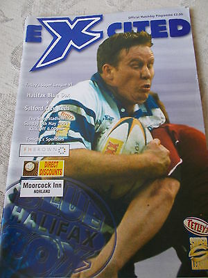 6.5.01 Halifax Blue Sox v Salford City Reds rugby league programme