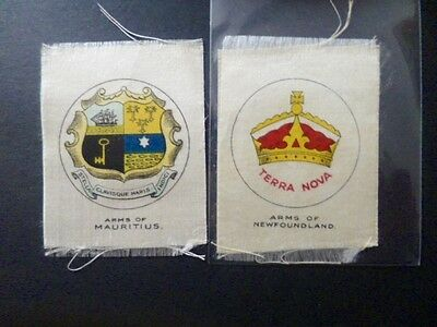 "Phillips Silks ""arms Of Countries And Territories"" Mauritius & Newfoundland"