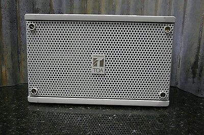 TOA F-500 White Indoor Outdoor Speaker Looks & Sounds Great FREE SHIPPING
