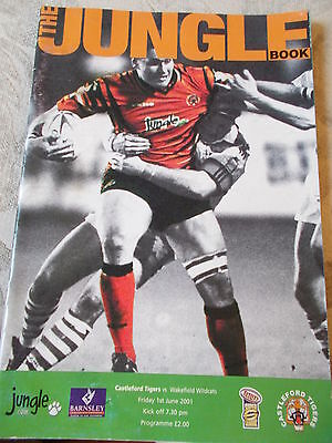 1.6.01 Castleford Tigers v Wakefield Trinity Wildcats rugby league programme