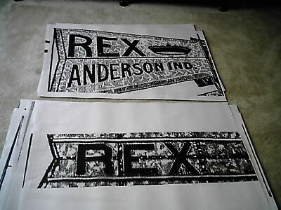 8ft REX Windmill Tail Vane Logo Layout for Stencil
