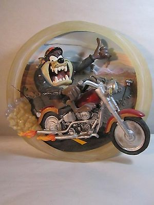 "Warner Bros  TAZ Plate ""Born To Be Wild""  1st in Series As Taz As I Wanna Be"