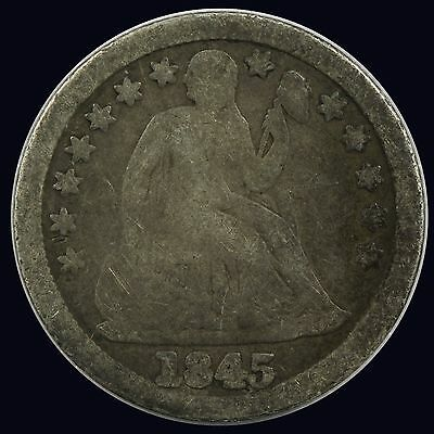1845-P Seated Liberty Dime {DD589}