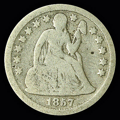 Seated Liberty Dime 1857-P {DD610}