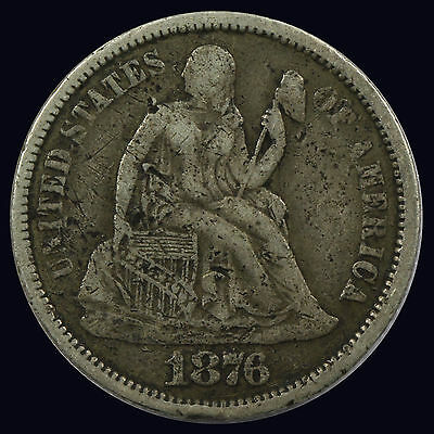 Seated Liberty Dime 1876-P {DD629}
