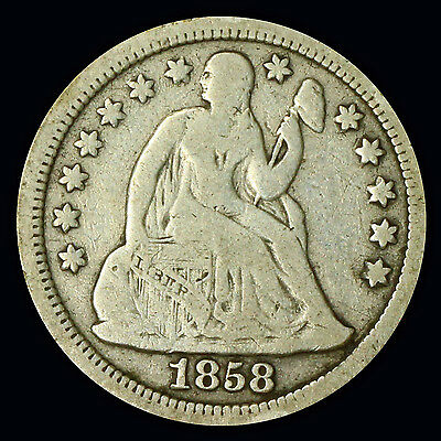 Seated Liberty Dime 1858 P {DD611}