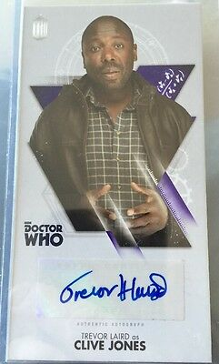 DOCTOR WHO Autograph Card  THE TENTH DOCTOR ADVENTURES - TEVOR JONES AS CLIVE