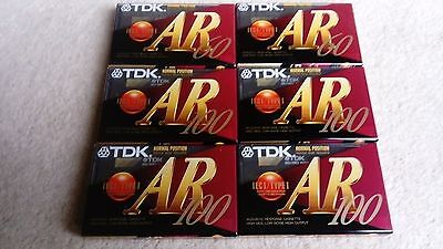 Job Lot of 6 Audio Blank Cassette Tapes New Sealed TDK AR 100 60 SUPER PRECISION