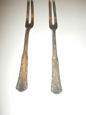 Pair  Of  Silver Plated  Hors D' Oeuvre  Forks   W.m.b.5 1/2""