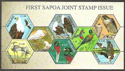 2004 SWAZILAND -  SAPOA First Joint Issue Birds PO Fresh Mint NH