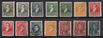 Argentina 1892, selection of used definitive stamps