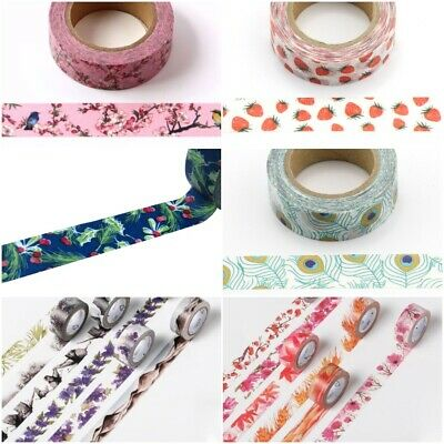 4 Seasons Range Of Washi Masking Decorative Paper Tape