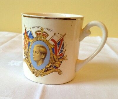 Royal commemorative mug Edward VIII 1937 coronation memorabilia
