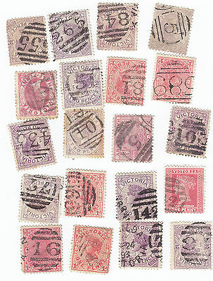 Small collection of Victoria barred numbers