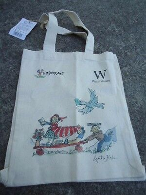 Waterstones  The Book Bus Book Bag Featuring Children Reading & Carrying Books.
