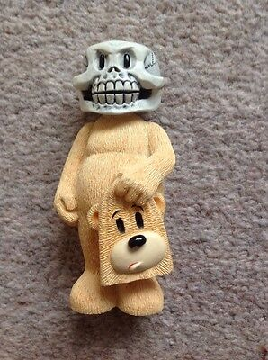 Teddy Bear Ornament With Skull Head Carrying His Face