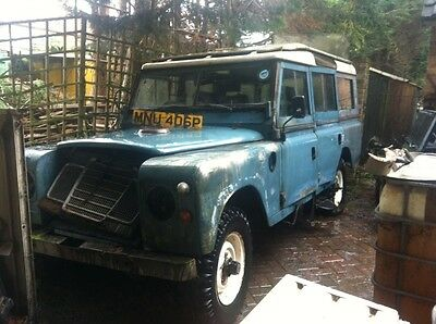 landrover 109 safari lwb 1976 needs repairs no engine chassis poor project