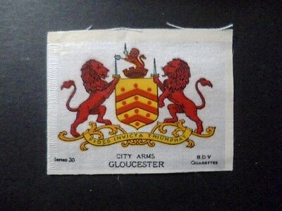 "Phillips Silks Ww1 Era ""town & City Arms"" 1 Medium Size Gloucester."