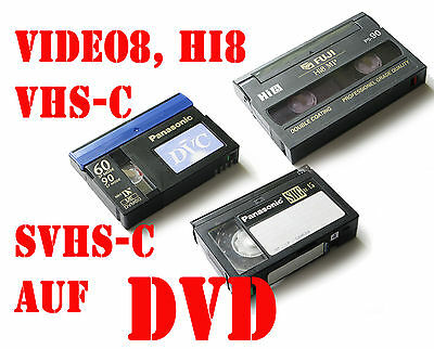 10 Analog video Hi8, - Video8 /D8 VHS-C digitalisieren auf DVD