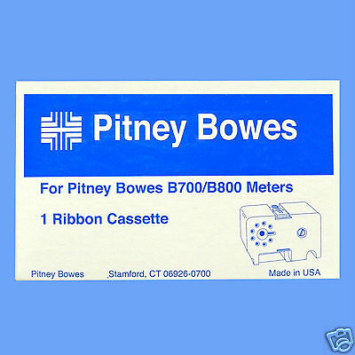 Original Pitney Bowes B700 B800 Meters Franking Machine Red Ribbon Cassette