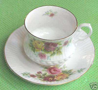China Cup and Saucer – Royal Minster Rose Pattern  Used