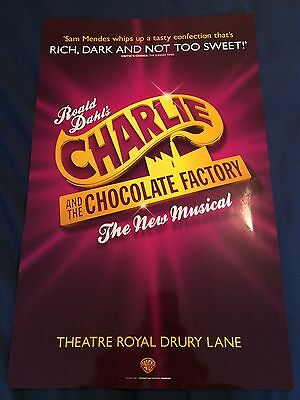 Charlie & The Chocolate Factory London Musical 2016 Theatre Poster