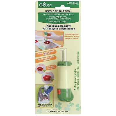 NEW Clover Needle Felting Tool - handle / holder with 5 needles included BNIP