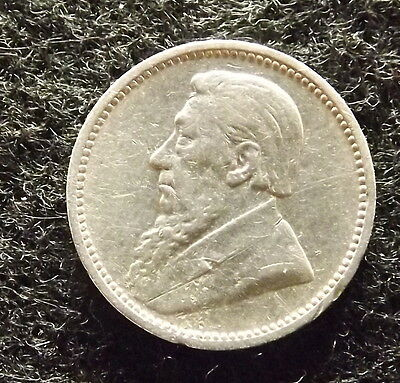 1896 South Africa 3 Pence - Rare Sterling Silver ZAR Coin, KM# 3 (#436)