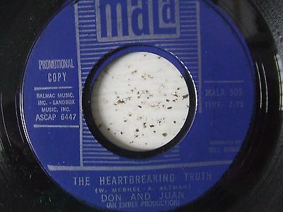 RARE Northern soul DON & JUAN The heartbreaking truth MALA