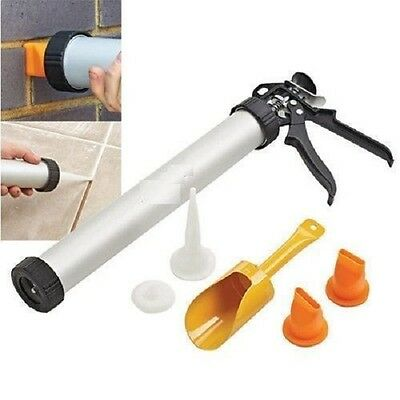 New Mortar Gun For Brick Pointing And Tile Grouting Cement Applicator Tool Diy