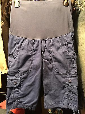 Oh Mamma Maternity Shorts/ capris  Blue . Small Great condition
