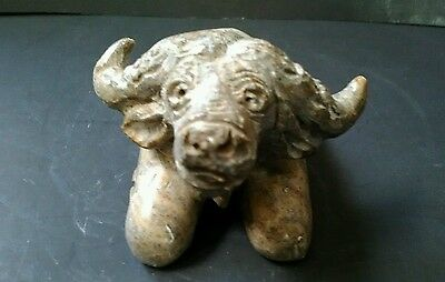 Hand Carved Stone Water Buffalo